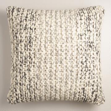 Chunky Sweater Wool Throw Pillow