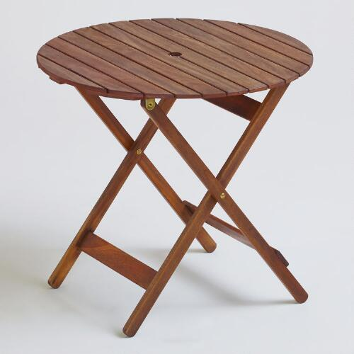 Mika Round Natural Wood Table