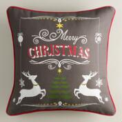 Holiday Stag Slate Throw Pillow