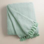 Surf Blue Chunky Chenille Throw
