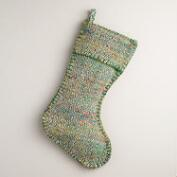 Green Diamond Sari Stocking