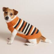 Halloween Stripe Knit Dog Sweater