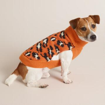 Cheetah Knit Dog Sweater