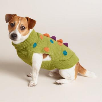 Dinosaur Knit Dog Sweater