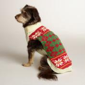 Red Argyle Knit Dog Sweater
