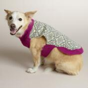 Gray Flower Knit Dog Sweater