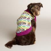 Triangle Knit Dog Sweater