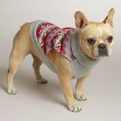 Pink Fair Isle Knit Dog Sweater
