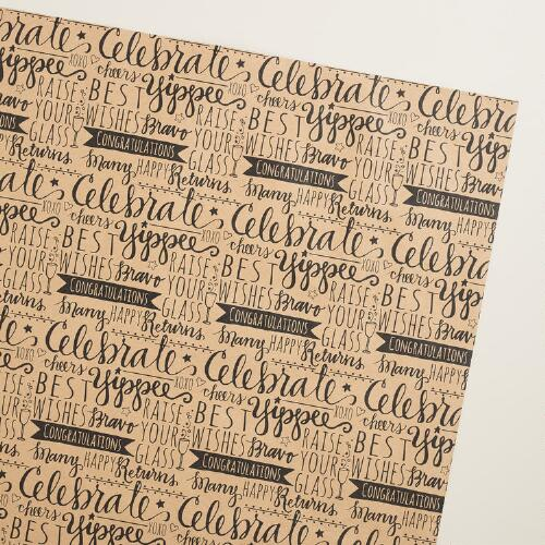 Celebrations Scribble Wrapping Paper Roll