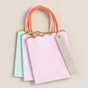 Medium Solid Gift Bags, 6-Pack