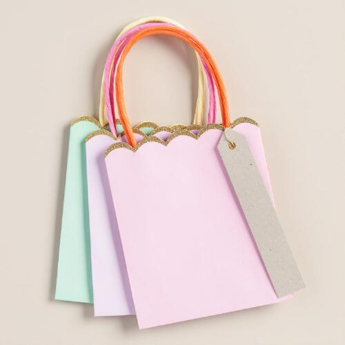 Medium Solid Gift Bags, 3-Pack