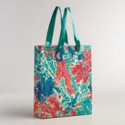 Large Green Floral Baroque Handmade Gift Bag