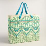 Extra-Large Green Clementine Handmade Gift Bag
