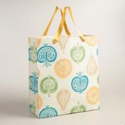 Extra-Large Green Harvest Handmade Gift Bag