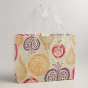 Large Purple Harvest Handmade Gift Bag