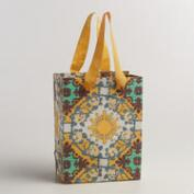 Small Gray and Yellow Angelica Handmade Gift Bags, Set of 2