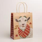 Large Goat Kraft Gift Bags, Set of 2