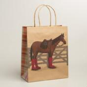 Large Horse Kraft Gift Bags, Set of 2
