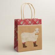 Medium Sheep Kraft Gift Bags, Set of 2