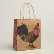 Small Chicken Kraft Gift Bags, Set of 3