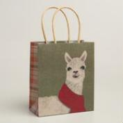 Small Alpaca Kraft Gift Bags, Set of 3