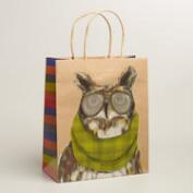 Large Hipster Owl Gift Bag