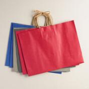 Large Kraft Gift Bags, 6-Pack