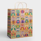 Jumbo Birthday Owls Gift Bag