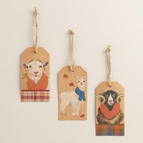 Fall Animals Kraft Gift Tags, 6-Pack