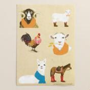 Fall Animals Gift Labels, 3 Sheets