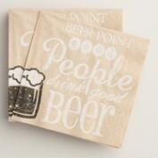 Beer Point Kraft Beverage Napkins, 20-Count