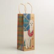 Alpaca Kraft Wine Bags, Set of 2