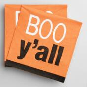 Boo Y'all Beverage Napkins, 20-Count