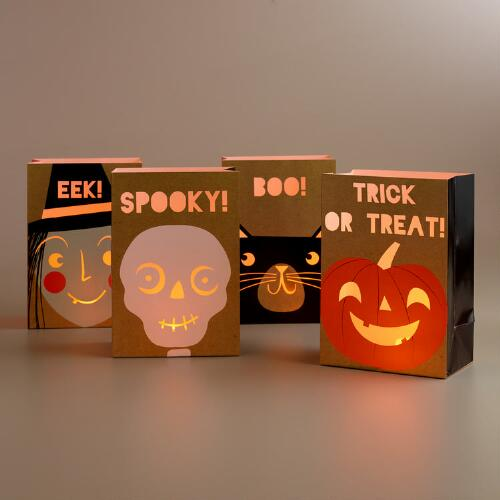 Halloween Luminaries, Set of 4
