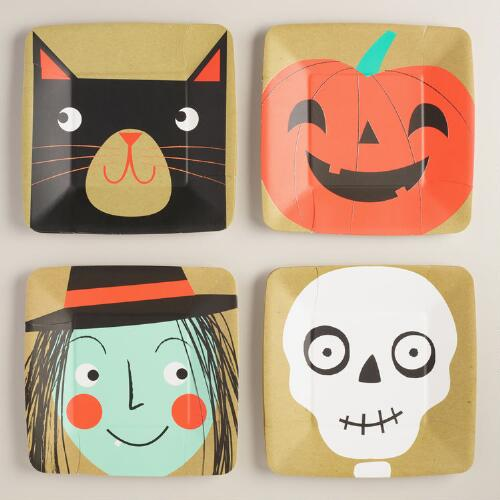 Halloween Paper Plates, 12-Count