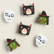 Felt  Halloween Clips, Set of 6