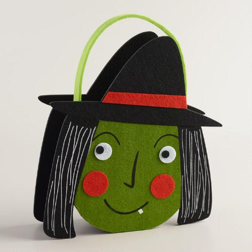 Felt Halloween Witch Container
