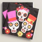 Day of the Dead Beverage  Napkins, 20-Count