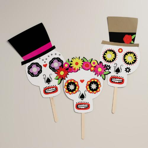 Day of the Dead Masks, 3-Pack