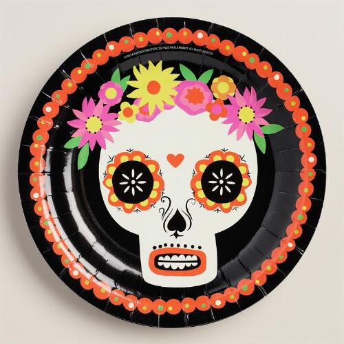 Day of the Dead Paper Plates, 12-Count