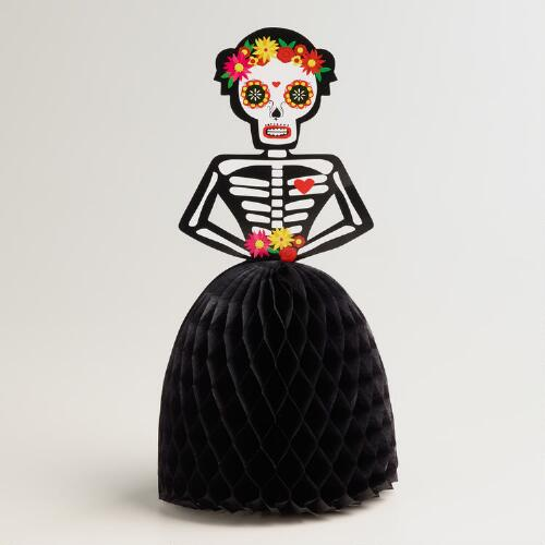 Paper Day of the Dead Skeleton Table Decor