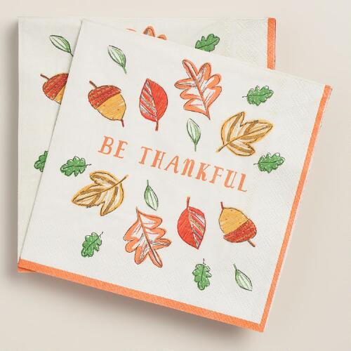 Be Thankful Lunch Napkins,  20-Count
