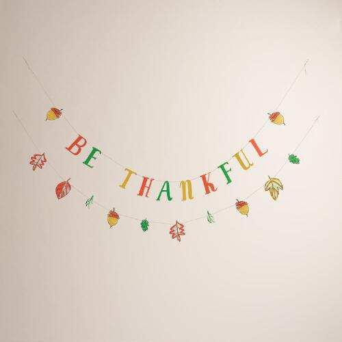 Be Thankful Paper  Banner