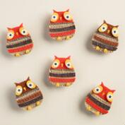 Felt Owl Clips, Set of 6