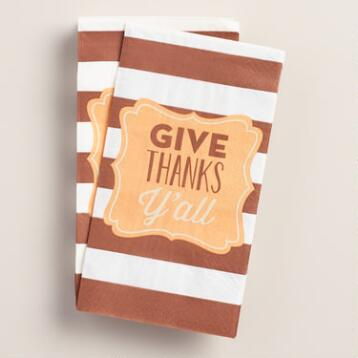 Thanks Ya'll Guest Napkins, 16-Count