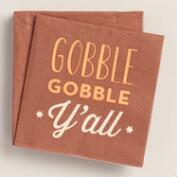 Gobble Ya'll Beverage Napkins, 20-Count