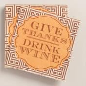 Give Thanks Drink Wine Beverage Napkins, 20-Count