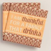 I Am Thankful Beverage Napkins, 20-Count