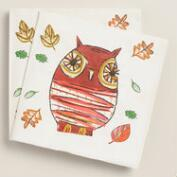 Thanksgiving Owl Dinner Napkins, 20-Count