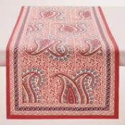 Coral Paisley Escala Table Runner